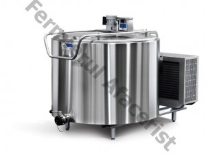 Tanc de racire lapte vertical 2 mulsori, capacitate 800 lt