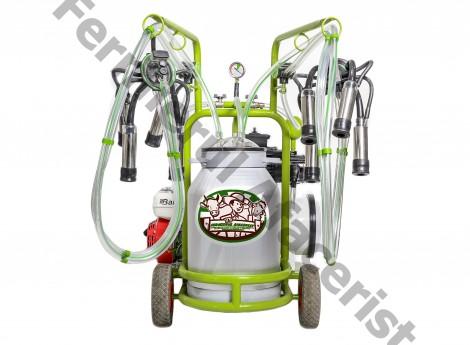 Aparat de muls vaci Milka 2 benzina cu bidon de aluminiu